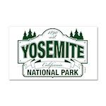 Yosemite Green Sign Car Magnet 20 x 12