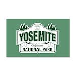 Yosemite Green Sign 20x12 Wall Decal