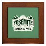Yosemite Green Sign Framed Tile