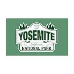 Yosemite Green Sign 35x21 Wall Decal