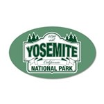 Yosemite Green Sign 35x21 Oval Wall Decal