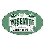 Yosemite Green Sign Sticker (Oval 10 pk)