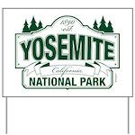 Yosemite Green Sign Yard Sign