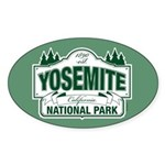 Yosemite Green Sign Sticker (Oval)