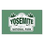 Yosemite Green Sign Sticker (Rectangle)
