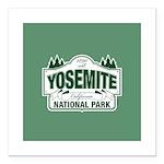 Yosemite Green Sign Square Car Magnet 3