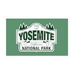 Yosemite Green Sign Rectangle Car Magnet
