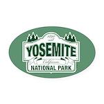 Yosemite Green Sign Oval Car Magnet