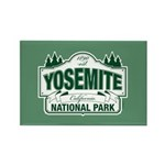 Yosemite Green Sign Rectangle Magnet (100 pack)