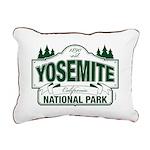 Yosemite Green Sign Rectangular Canvas Pillow