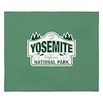 Yosemite Green Sign King Duvet