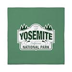 Yosemite Green Sign Queen Duvet