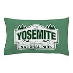 Yosemite Green Sign Pillow Case