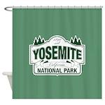 Yosemite Green Sign Shower Curtain