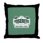Yosemite Green Sign Throw Pillow