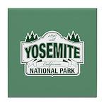 Yosemite Green Sign Tile Coaster