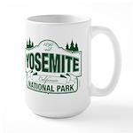 Yosemite Green Sign Large Mug