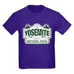 Yosemite Green Sign Kids Dark T-Shirt
