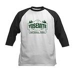Yosemite Green Sign Kids Baseball Jersey