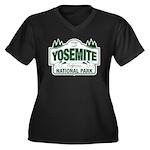 Yosemite Green Sign Women's Plus Size V-Neck Dark