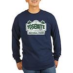 Yosemite Green Sign Long Sleeve Dark T-Shirt