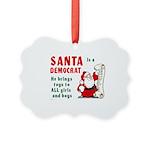 Santa Is A Democrat Picture Ornament