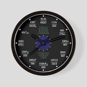 Math clock (constants) Wall Clock
