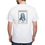 Sir Isaac Newton Stamp White T-Shirt