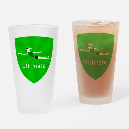 Cute Discgolf Drinking Glass
