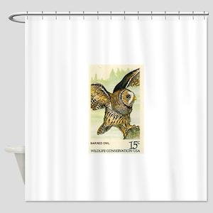 1978 United States Barred Owl Postage Stamp Shower