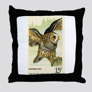 1978 United States Barred Owl Postage Stamp Throw