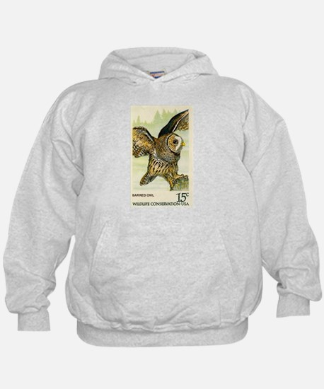 1978 United States Barred Owl Postage Stamp Hoodie