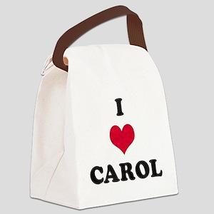 I Love Carol Canvas Lunch Bag