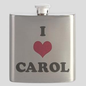 I Love Carol Flask