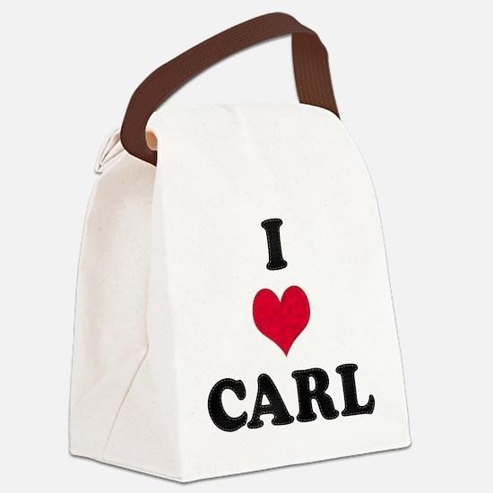 I Love Carl Canvas Lunch Bag