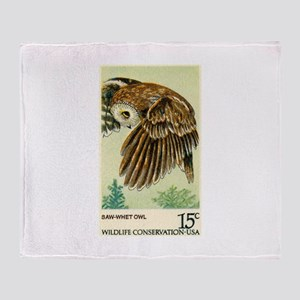 1978 United States Saw whet Owl Postage Stamp Sta
