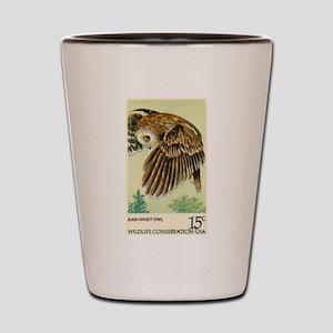 1978 United States Saw whet Owl Postage Stamp Shot