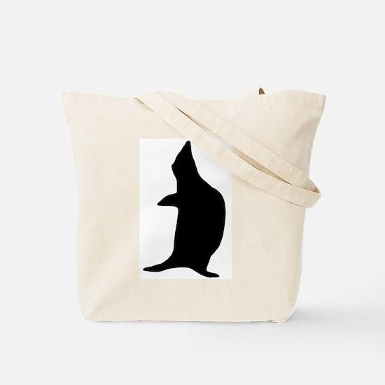 Penguin Poser Art Tote Bag