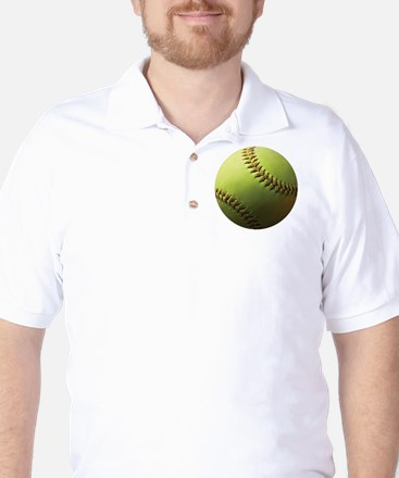 Yellow Softball Golf Shirt