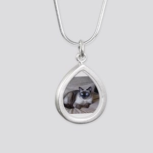 Pixie April 17 09 Silver Teardrop Necklace