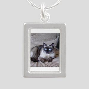 Pixie April 17 09 Silver Portrait Necklace