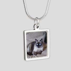 Pixie April 17 09 Silver Square Necklace