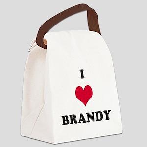 I Love Brandy Canvas Lunch Bag