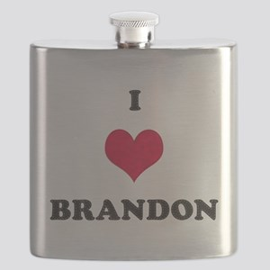 I Love Brandon Flask