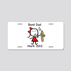 Trombone - Band Dad Aluminum License Plate