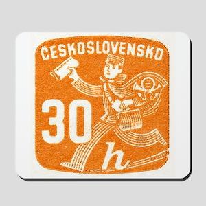 1945 Czechoslovakia Newspaper Newsboy Stamp Mousep