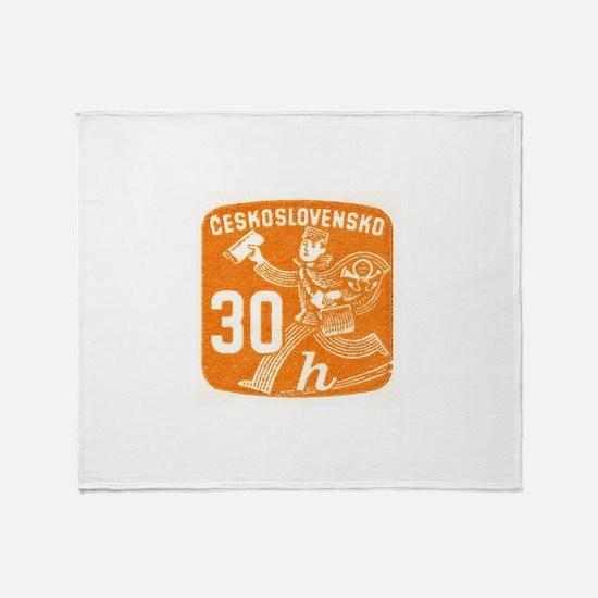 1945 Czechoslovakia Newspaper Newsboy Stamp Stadi