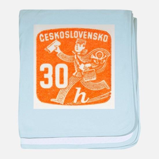 1945 Czechoslovakia Newspaper Newsboy Stamp baby b