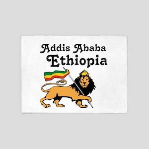 Addis Ababa, Ethiopia 5'x7'Area Rug