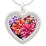 DSC01849rounds Silver Heart Necklace